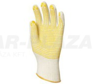 Csúszásbiztos cérnakesztyű - sárga (10 pár)