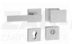 Tupai Square-Cubo, matt króm, négyzetrozettás biztonsági garnitúra cilindervédővel