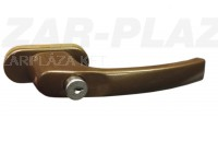 Zárható Erkélykilincs, aluminium F4