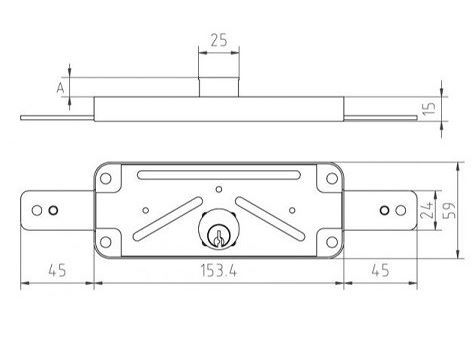 MCM 1511 V, portál zár műszaki rajza
